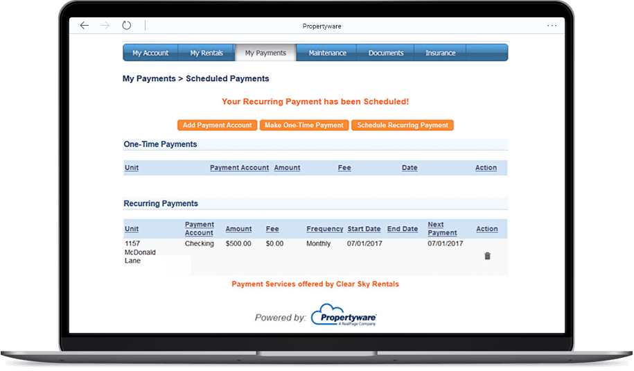 Accounting Online Payments